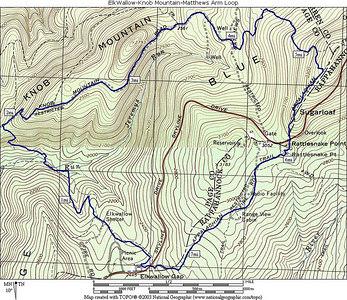 Elk Wallow-Knob Mtn-Matthews Arm loop 6/21/06