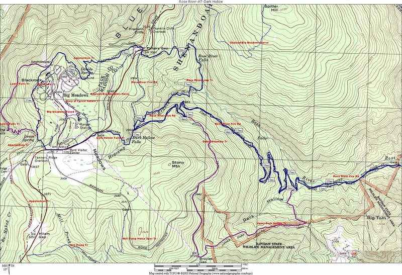 Hike Map (we did the blue line-others did the purple)