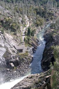 Tuolumne River downstream of the dam