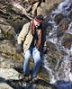 Crossing the falls