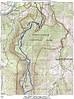 Hike Map; numbers show where blowdowns were