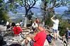Fast Hikers finish lunch at Signal Knob