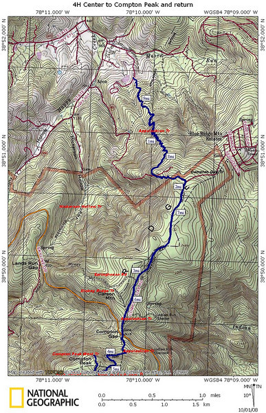 Hike Map (the route we took--out and back)