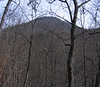 Strickler Knob from the bottom of Waterfall Mtn