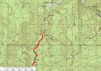 Map Track on USGS map