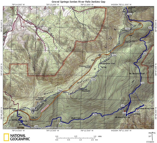 """Short"" Hike map (bushwhack & AT part shown as dotted lines)"