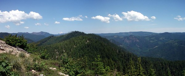 Panorama from Gold Butte Lookout