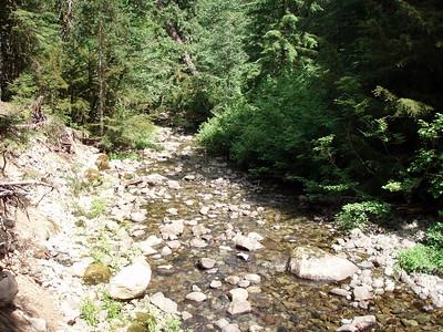 Elk Lake Creek at Battle Creek Shelter site