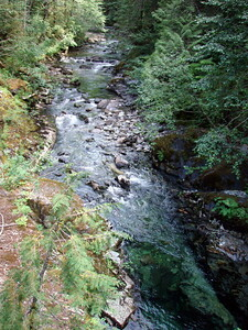 Downstream from the deep pool