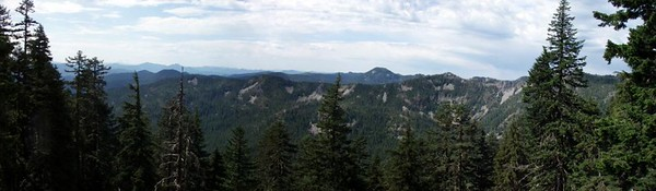 Panorama from Bull of the Woods lookout