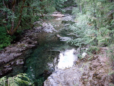 Upstream from the deep pool