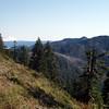 Thunder Mountain (right side), Mt Hood (left side)  East Mountain (behind Thunder Mountain)
