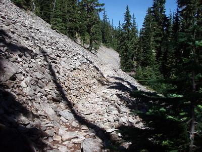 The BIG rockslide on 544