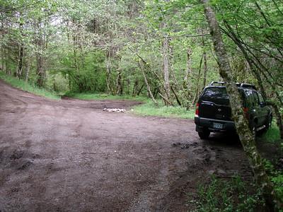 "The ""trailhead"" - Enough for a few cars to park"