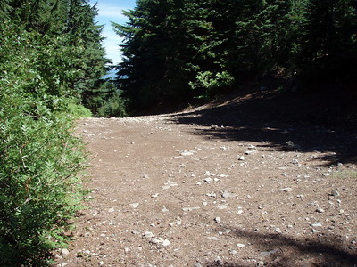 The road up to the lookout site