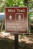 Start of the mist trail. While the whole trail is called Mist Trail, the true mist trail does not start until after you reach the Vernal Footbridge.