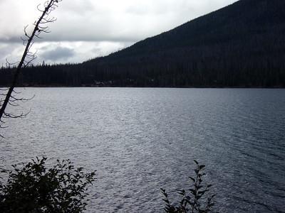 Looking back at Olallie Lake resort - Wast side of lake