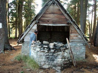 Old building at Breitenbush campground