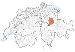 Glaris' location inside Switzerland