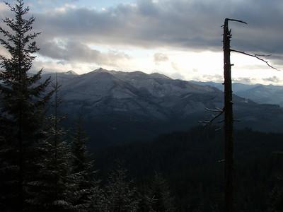 Granite Peaks from Oak Grove Butte Cutoff Trail