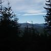 Mt Hood peeking over the hill