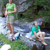 We washed in the cold stream, even though there were sinks available.