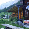 Our destination, the Hotel Gastental, where we found a group of American hikers.