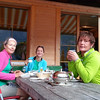 Early breakfast before a walk above the lake.