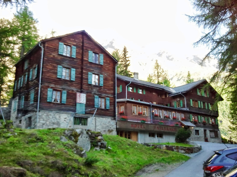Hotel Fafleralp in the Lotschental Valley, the night before the hike. A great place! We shall return.