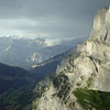 Next morning, a storm is gathering and we eat breakfast looking at the Daubenhorn, which hosts the longest and most demanding via ferrata in Switzerland - K5-6.