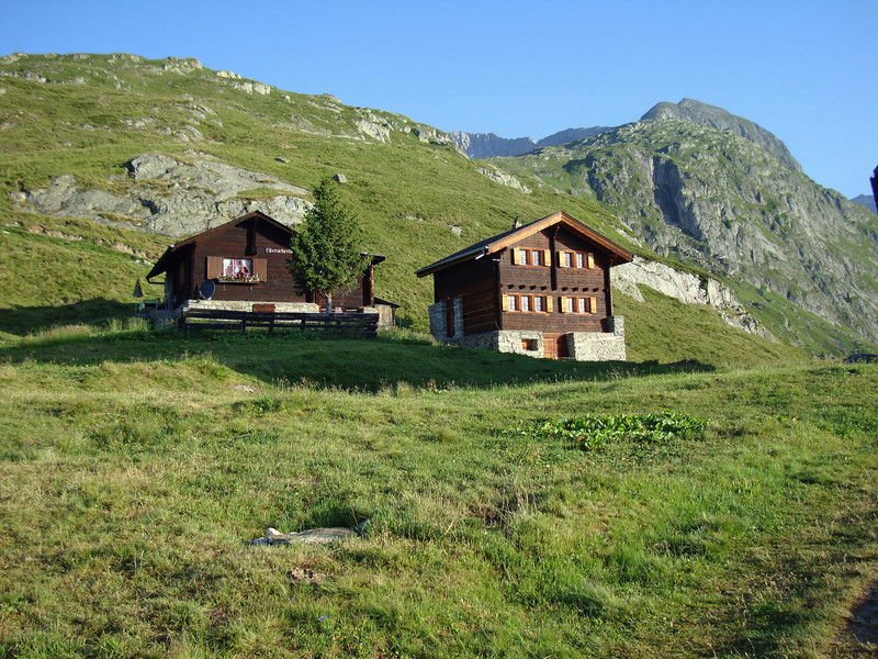 The chalets behind the hotel