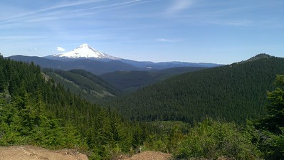 Mt Hood and Wolf Peak from High Rock Turnout