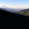 Mt Adams - looking down the Goat Creek drainage early in the morning - on our way to Hawkeye Point