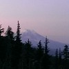 "Mt Adams from our campsite - nearing sunset - trying to get the ""alpenglow"" - we missed it by a bit"