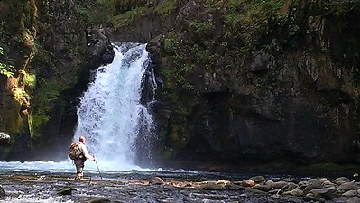 Paul enjoying the view of Parrywinkle Falls