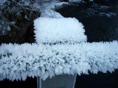 Ice on the bridge over Little Fan Creek