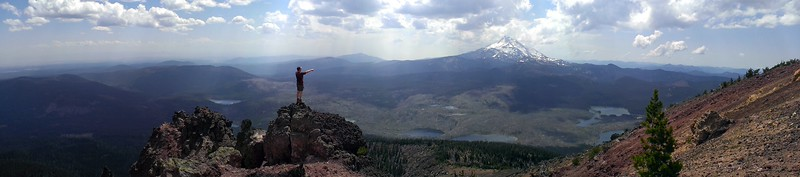 Panorama from the east side of Olallie Butte Looking South to Mt Jefferson