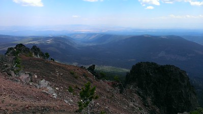 Looking east from the top of Olallie Butte