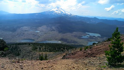 Mt Jefferson from the top of Olallie Butte
