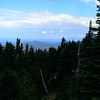 The first view from the trail as the trees opened up a bit - Mt Hood in the distance