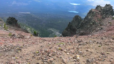 It is REALLY steep on the east side of Olallie Butte