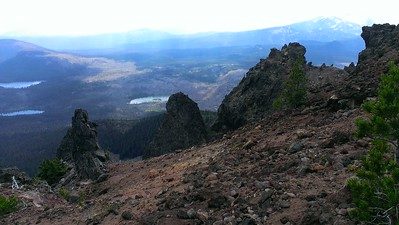 More dramatic rock formations on the east side of Olallie Butte