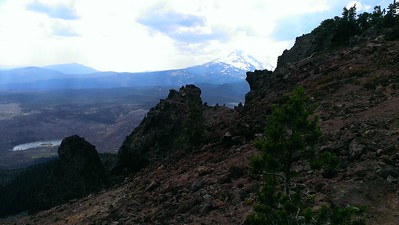 Looking south from the east side of Ollalie Butte - Mt Jefferson in the distance