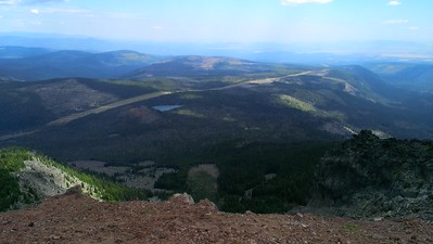 Looking northeast from the top of Olallie Butte