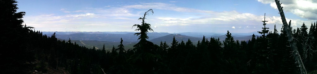 Panorama from about halfway up Olallie Butte - Looking west