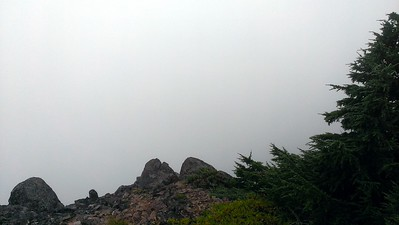 "The ""view"" from the overlook - not much to see today except clouds"