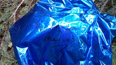 Balloon I found near the pond/marsh - I wonder who Marcos is?