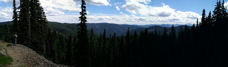 Panorama taken from Grouse Point trail