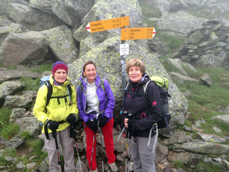 The Binntal hikers