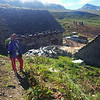 Lisa surveys Alpe Forno